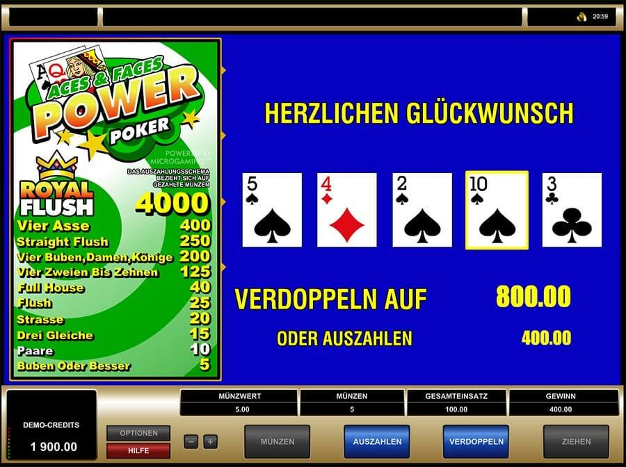Aces And Faces Power Poker Vorschau