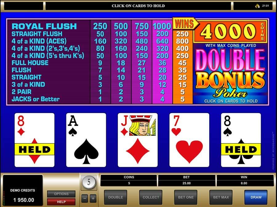 Double Bonus Poker Vorschau