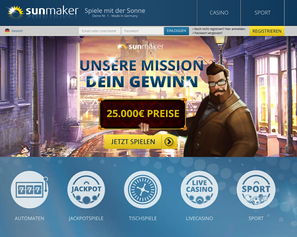 online casino sunmaker book casino