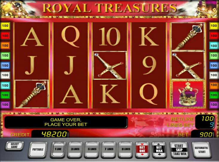 Novoline-royal-treasures-automatenspiel