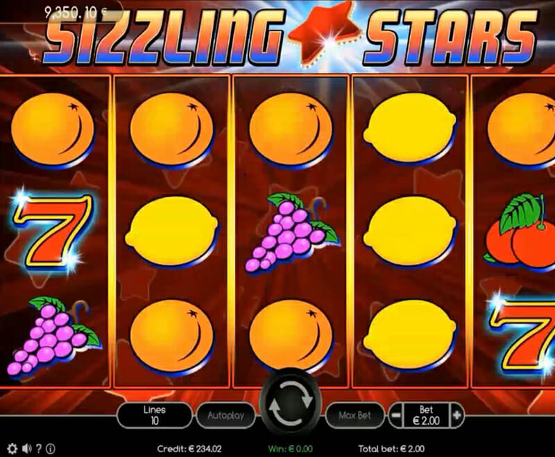 Novoline Sizzling Stars Spielen