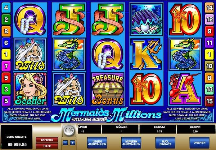 Mermaids Millions Gewinn