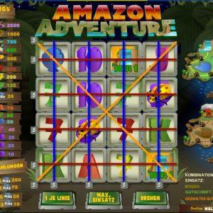 Amazon Adventure Gewinntabelle