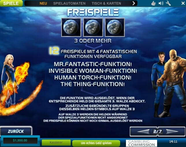 Fantastic Four Freispiele
