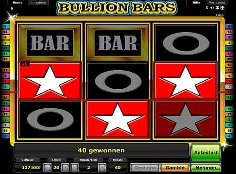 Bullion Bars Novoline