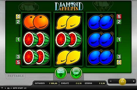 Diamond And Fruits Spielen