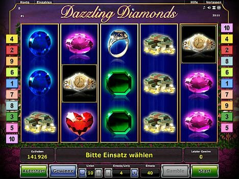 Dazzling Diamonds Novoline Spiel