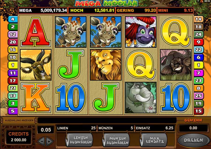 Microgaming Mega Moolah Online Slot
