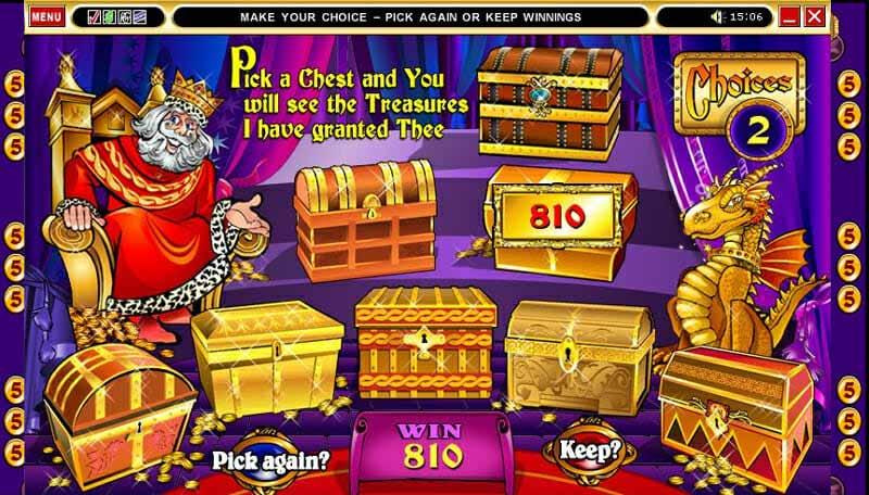 Quickfire King Cashalot Bonus