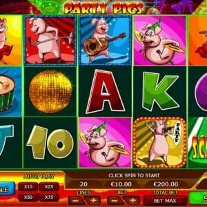 Random Logic Party Pigs Spielautomat