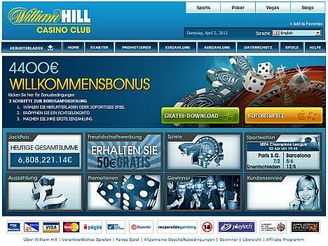 william hill club casino login