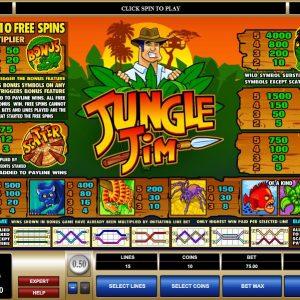 Jungle Jim Gewinntabelle
