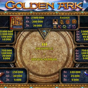 Novoline-golden-ark-gewinne