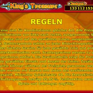 Novoline-kings-treasure-regeln