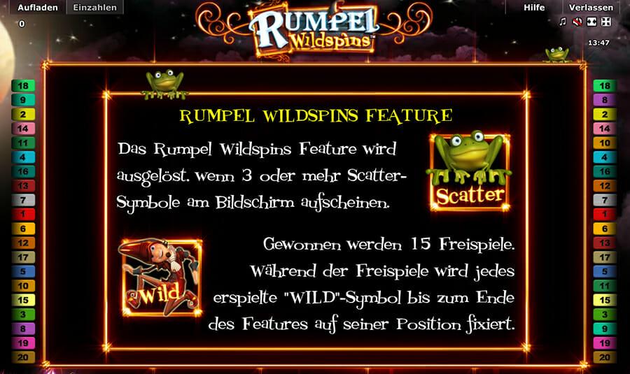 Novoline Rumpel Wildspins Bonus