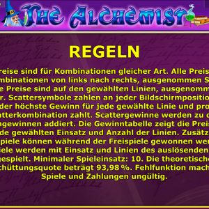 Novoline-the-alchemist-regeln