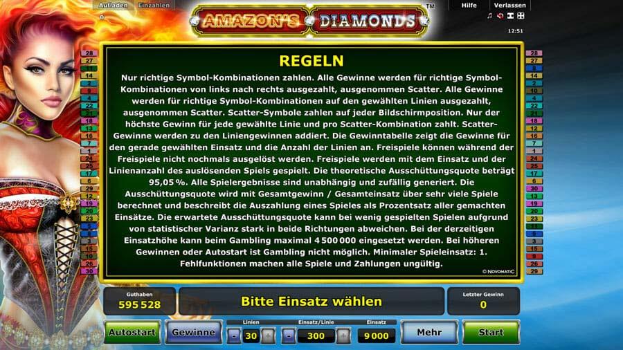 Amazons Diamonds Regeln