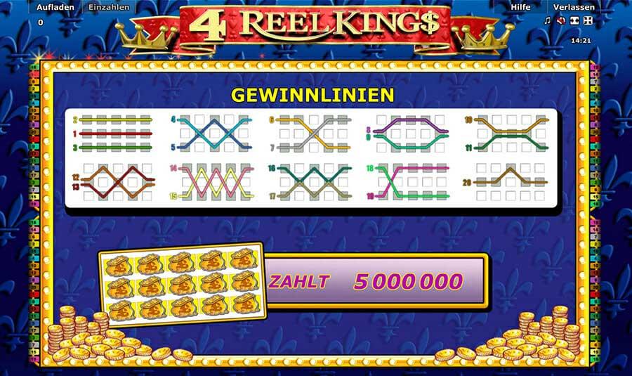Novoline 4 Reel Kings Feature