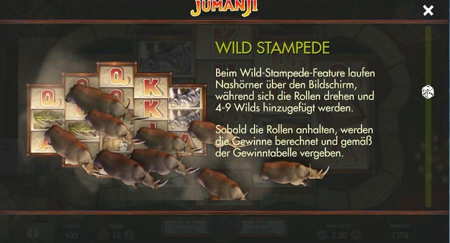 Jumanji Vorschau Wild Stampede