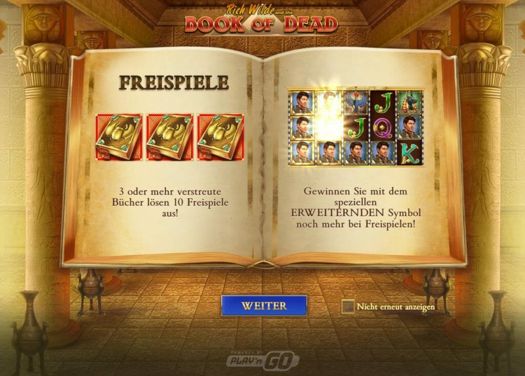 Book Of Dead Feature