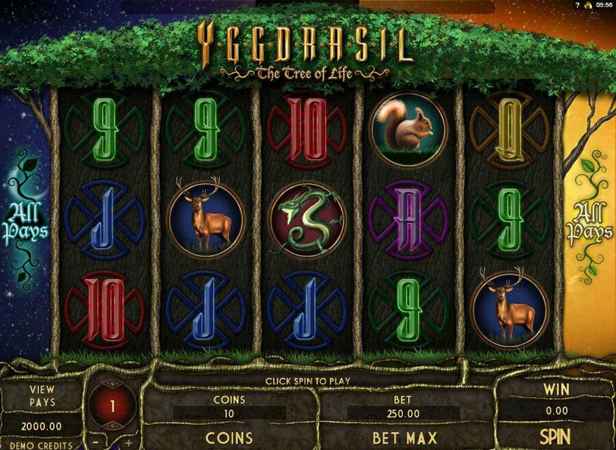 Genesis Yggdrasil Spielautomat
