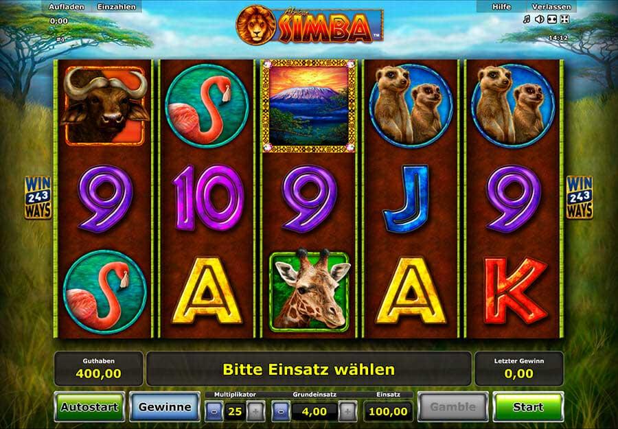 Novoline African Simba Spielautomat