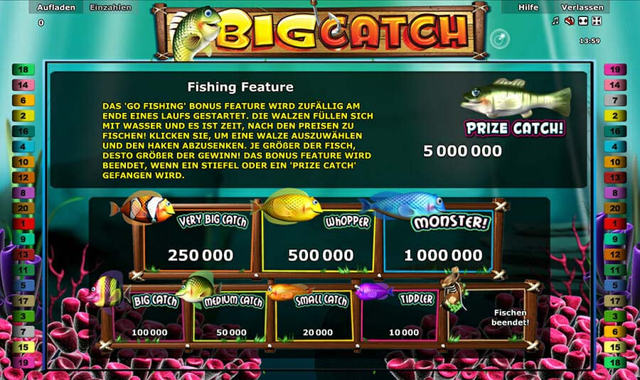 Novoline Big Catch Feature
