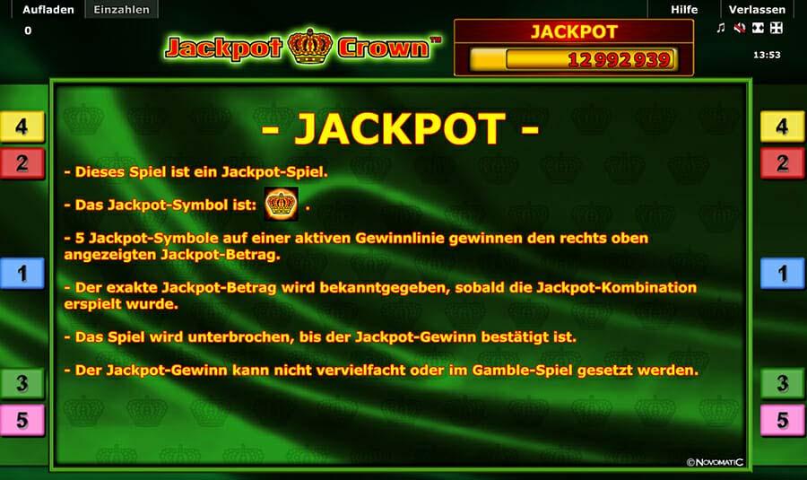 Novoline Jackpot Crown Jackpot