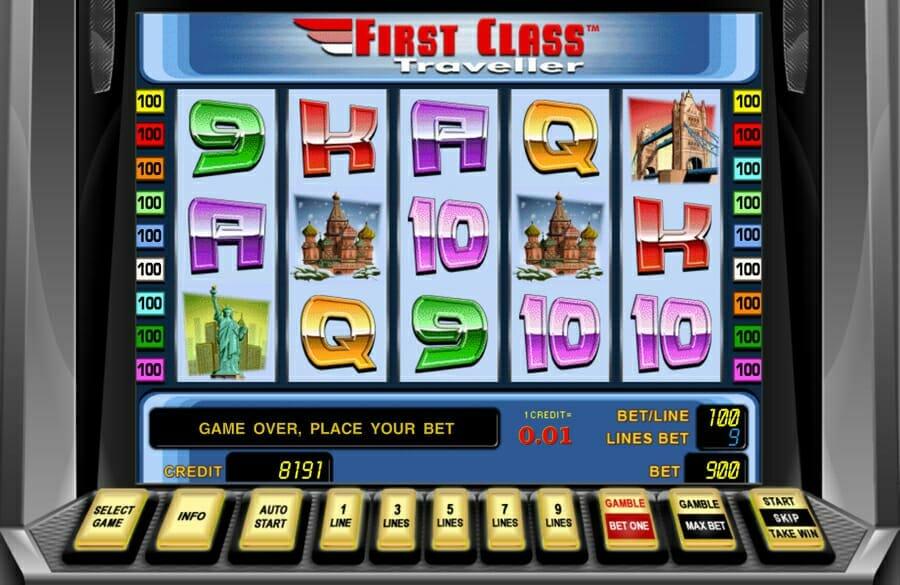 Novoline First Class Traveller Spielautomat
