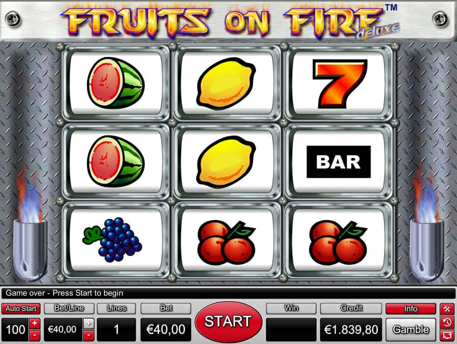 Novoline Fruits On Fire Deluxe Online Slot