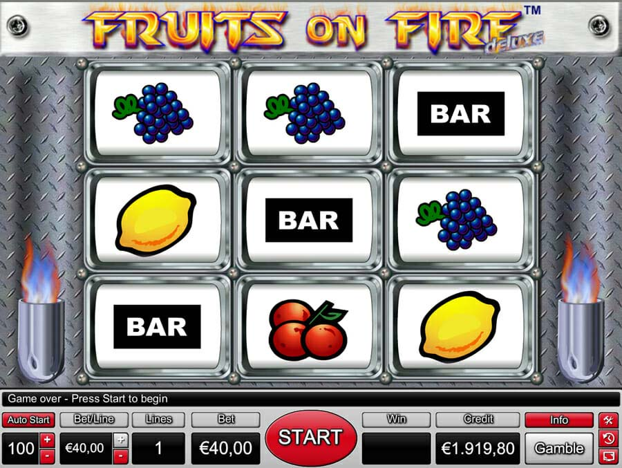 Novoline Fruits On Fire Deluxe Spielautomat