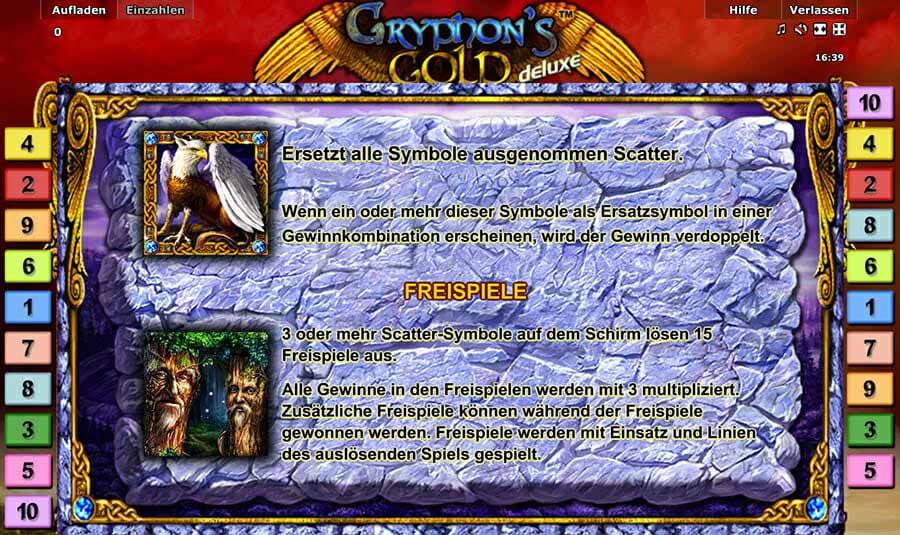 Novoline Gryphons Gold Deluxe Bonus