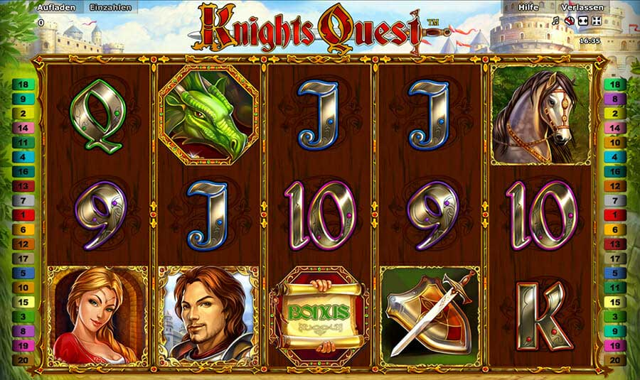 Novoline Knights Quest Spielautomat