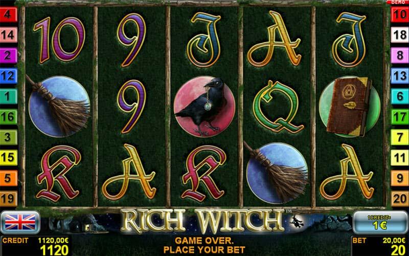 Novoline Rich Witch Spielautomat