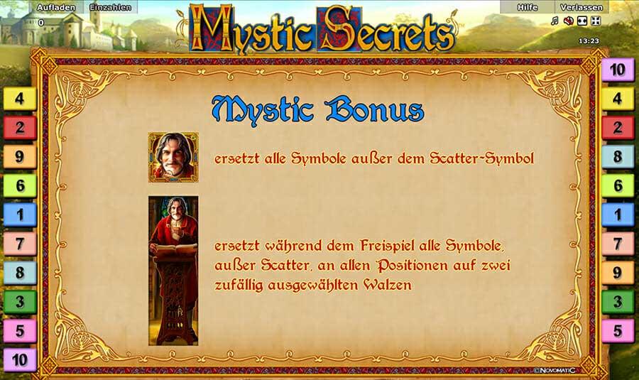 Novoline Mystic Secrets Bonus