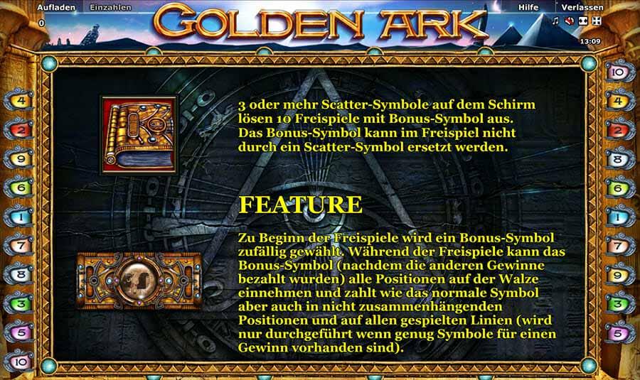 Novoline Golden Ark Feature