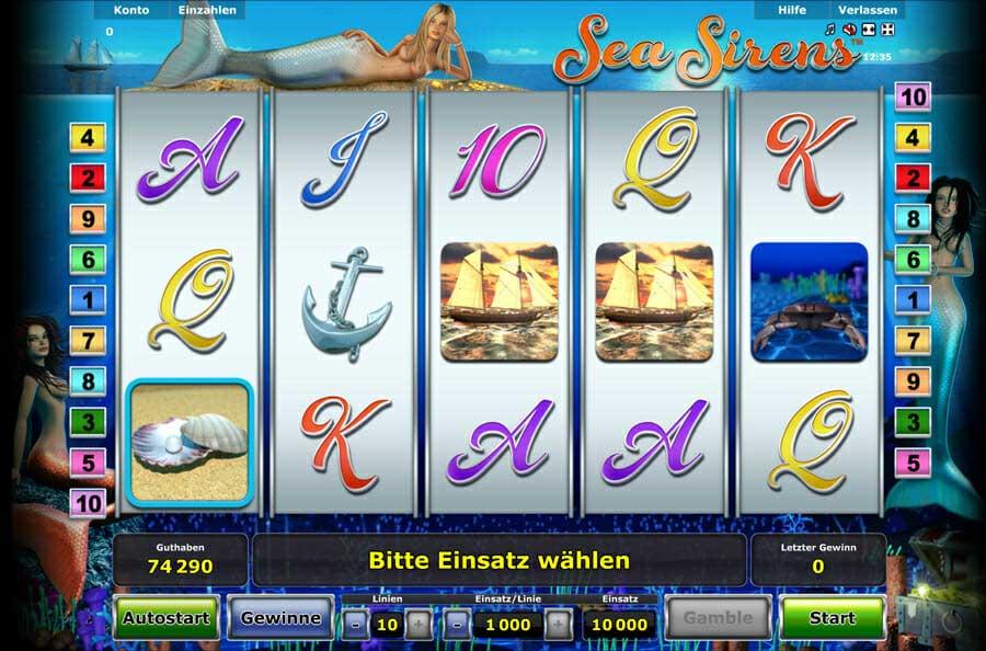 Novoline Sea Sirens Online Slot