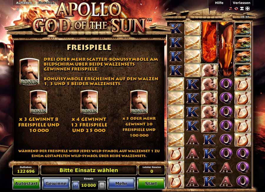 Apollo God Of The Sun Bonus
