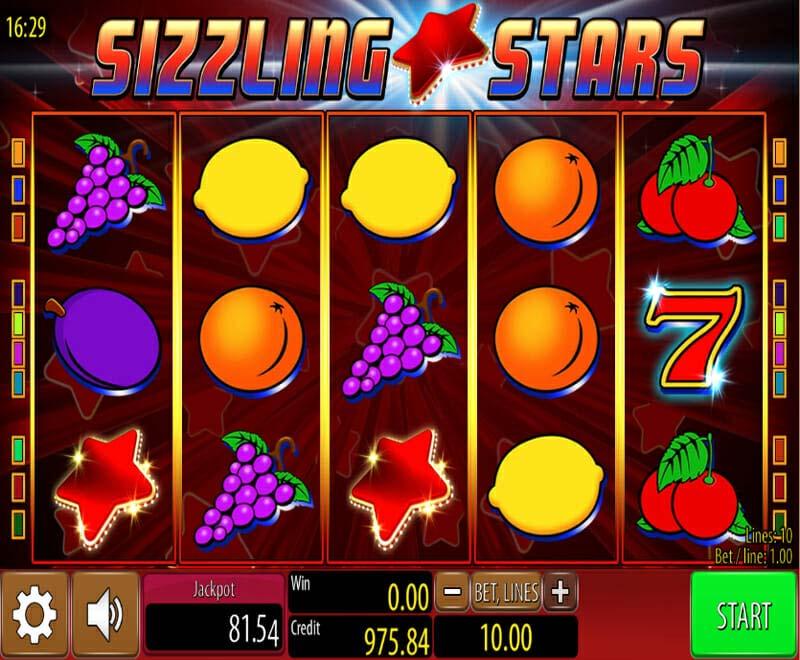 Novoline Sizzling Stars Gewinne
