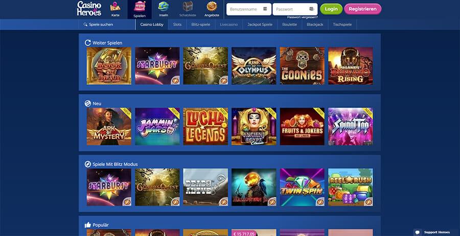 Casinoheroes Casino Spiele