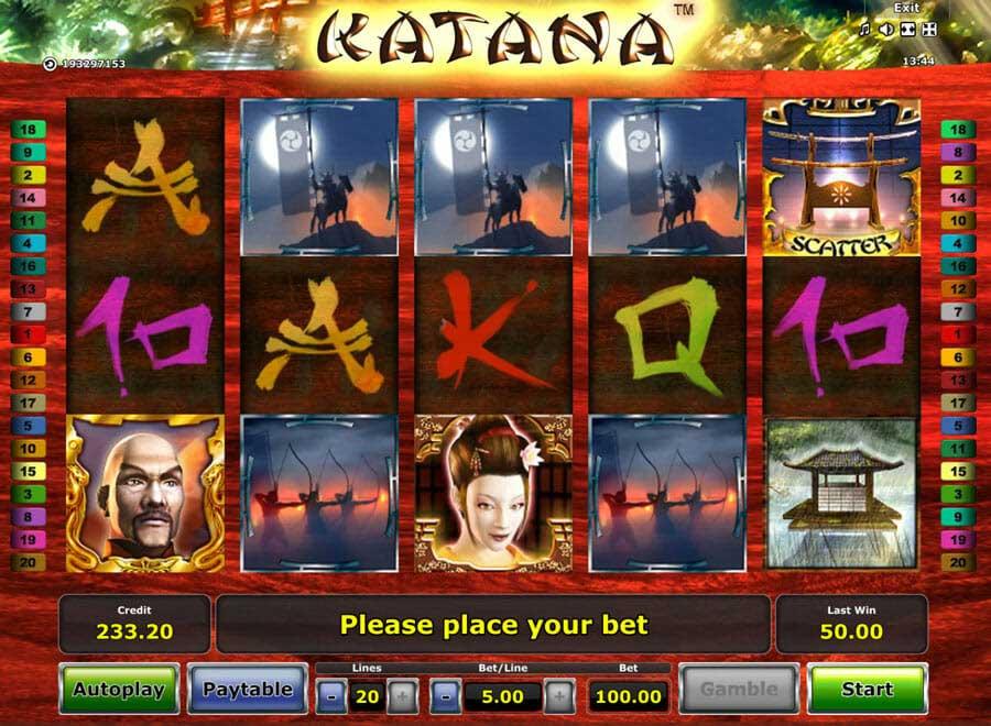 Katana Novoline Spiel