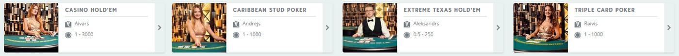 Live Casino Poker Im Speedy Casino