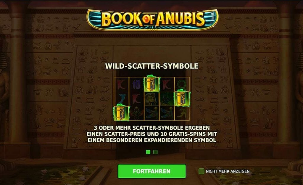 Book Of Anubis Bonus
