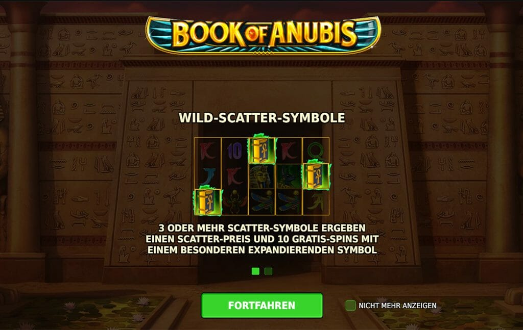 Book Of Anubis Bonus