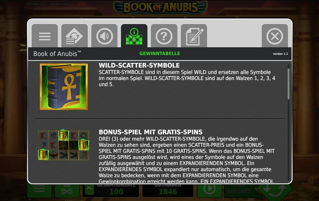 Book Of Anubis Bonus Funktion