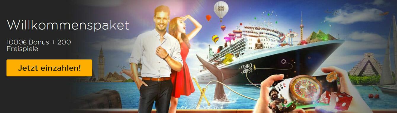 Casino Cruise Willkommensbonus
