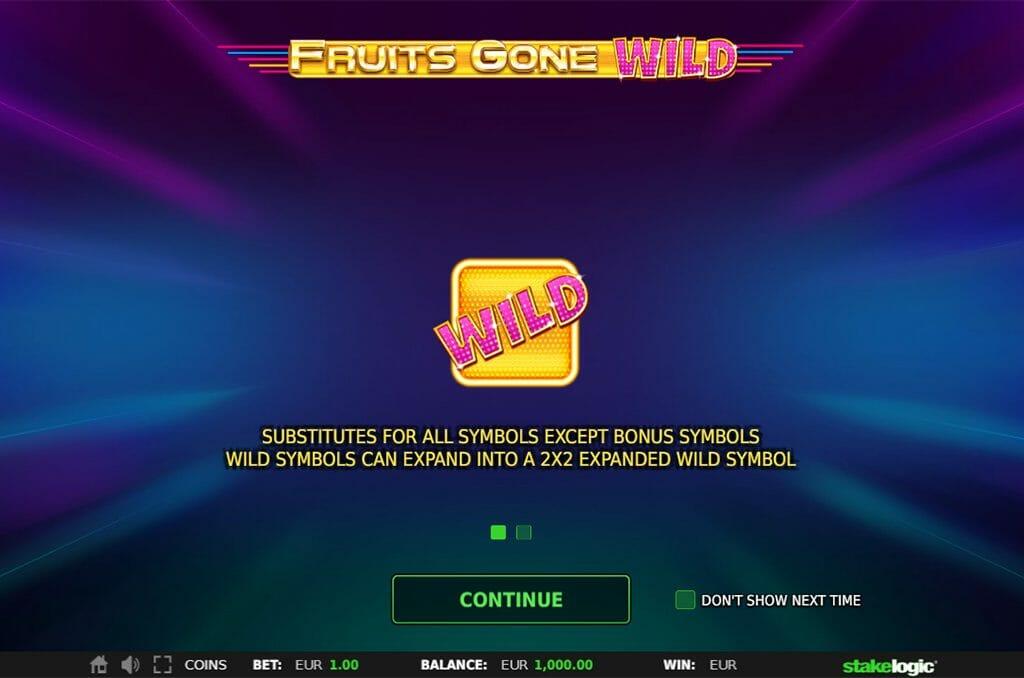 Fruits Gone Wild Wild-Bonus