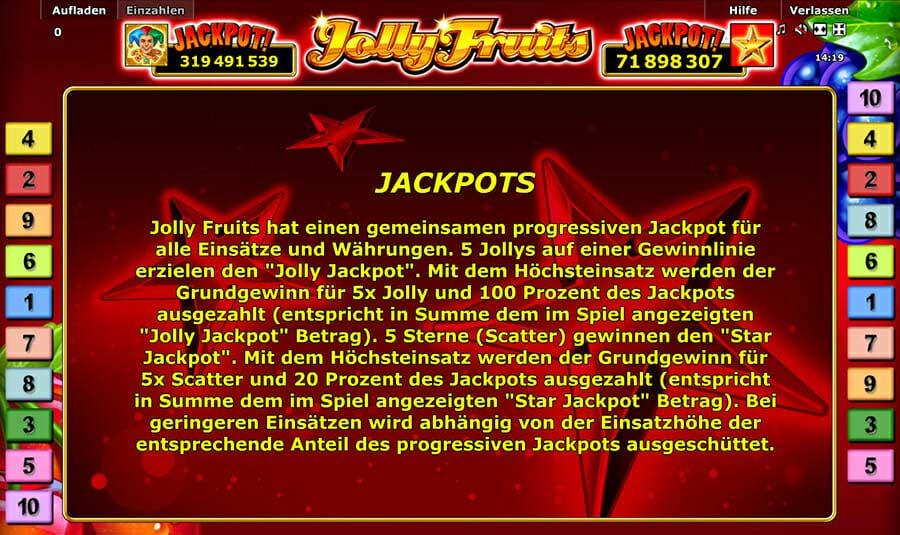 Novoline Jolly Fruits Jackpot