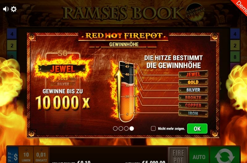 Ramses Book Red Hot Firepot Gewinne