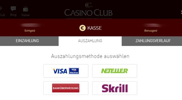 Auszahlungsquoten online Casinos